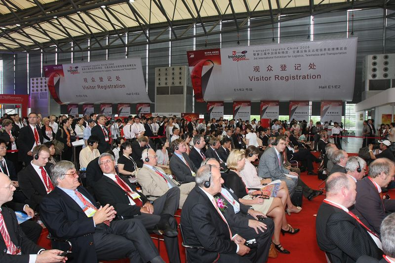 living scene of transport logistic China fair